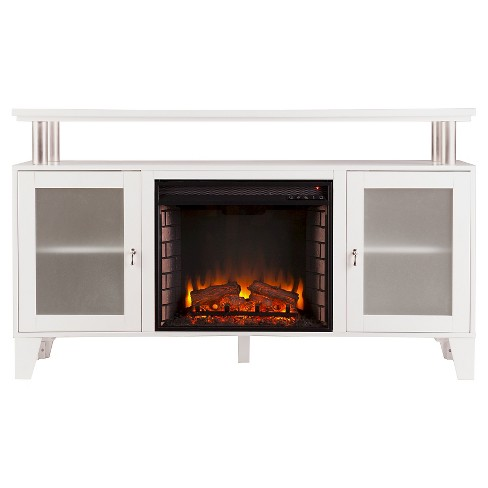 "60"" Decorative Fireplace - White - Aiden Lane - image 1 of 3"