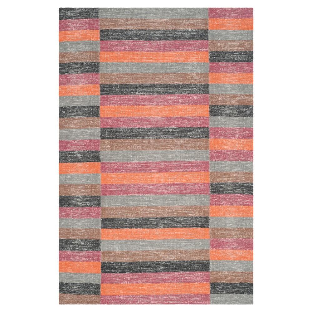 Striped Kilim Rug - Rust (Red) - (5'x8') - Safavieh