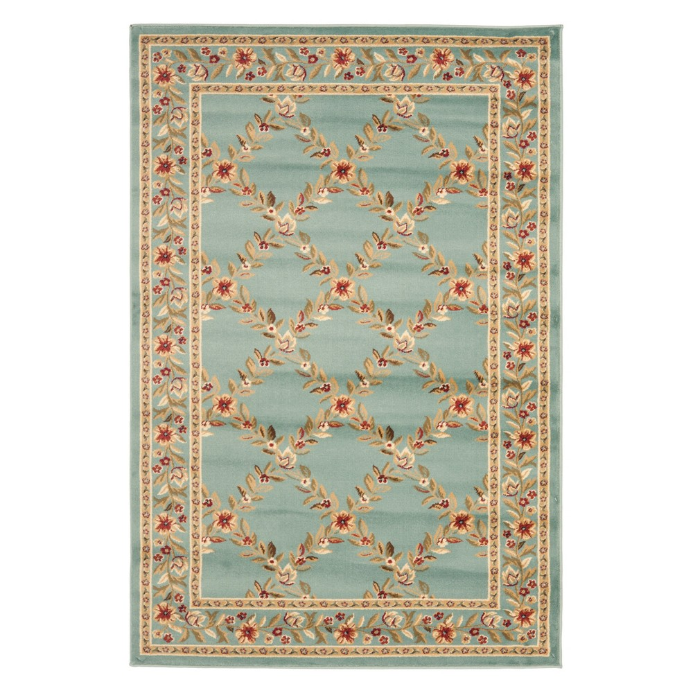 33X53 Floral Loomed Accent Rug Blue - Safavieh Cheap