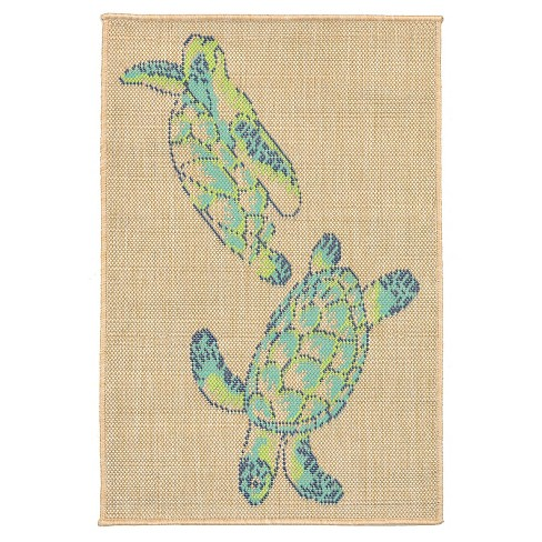 Playa Sea turtles Cool Rug - Liora Manne - image 1 of 1