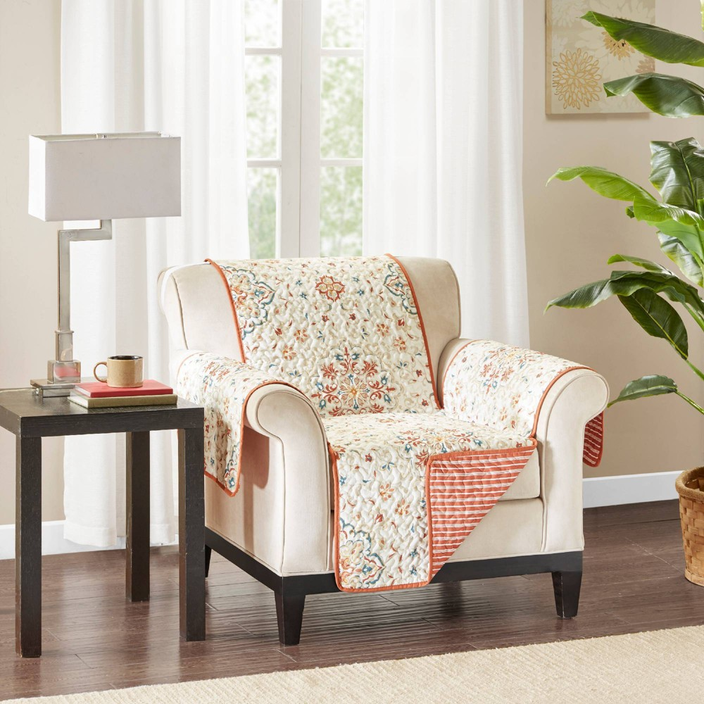 Enjoyable Neda Printed Arm Chair Protector Spice Caraccident5 Cool Chair Designs And Ideas Caraccident5Info
