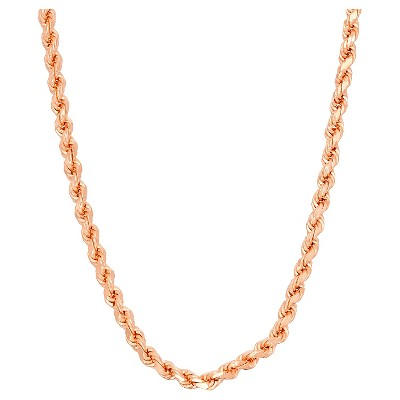 Tiara Sterling Silver Rope Chain Necklace