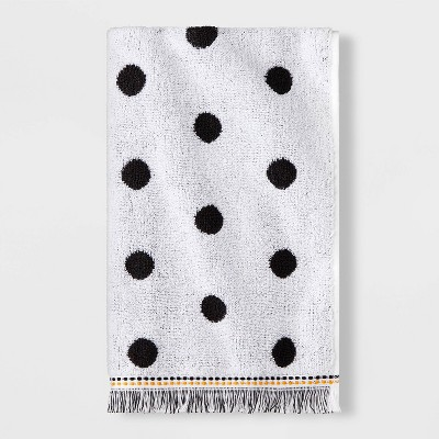 Dot Towel Black & White with SILVADUR™ Antimicrobial Technology - Pillowfort™