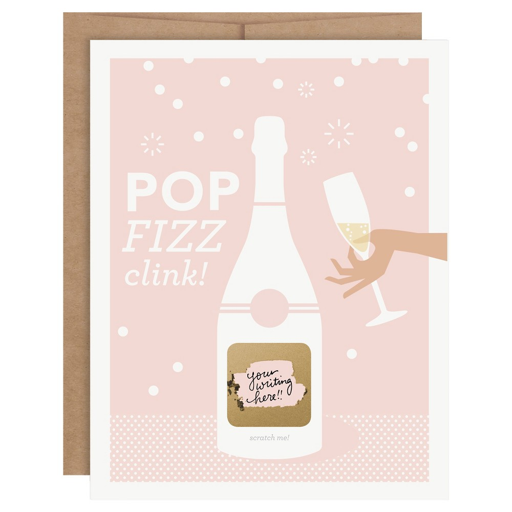"Image of ""6ct """"Pop Fizz Clink"""" Wedding Scratch-off Cards"""