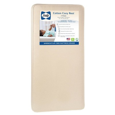 Sealy Cotton Cozy Rest 2-Stage Crib And Toddler Mattress