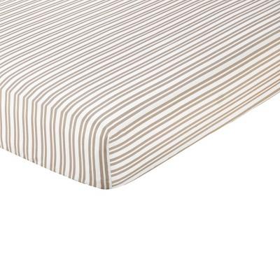 Sweet Jojo Designs Giraffe Fitted Crib Sheet - Stripe