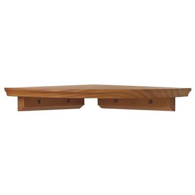 Corner Wall Shelf - Light Brown