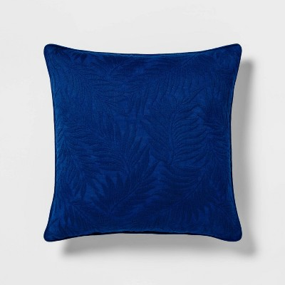 Woven Palm Square Throw Pillow Blue - Threshold™