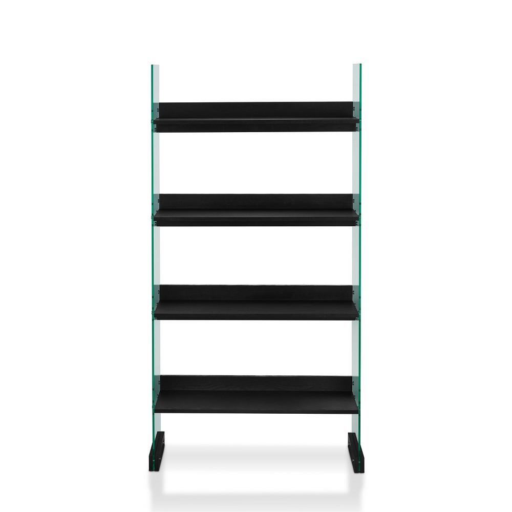 "Image of ""63"""" Franklin 4 Shelf Bookcase Galaxy - Black - ioHOMES"""