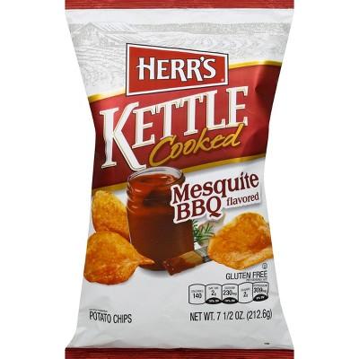 Herr's Kettle Cooked Mesquite BBQ Potato Chips - 8oz
