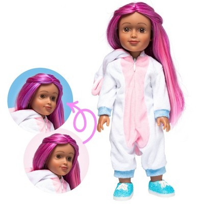 "I'M A WOW Sophia The Unicorn 14"" Fashion Doll with Color-Changing Hair"