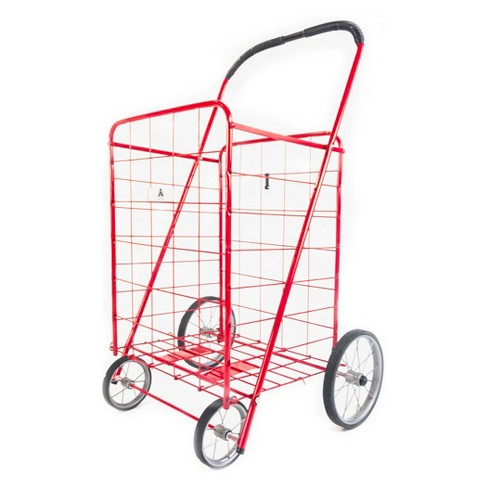 """ATHome 43""""X21""""X3.5"""" Shopping Cart Red - image 1 of 4"""