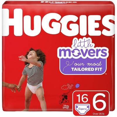Huggies Little Movers Diapers Jumbo Pack - Size 6 (16ct)