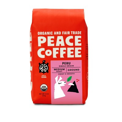 Peace Peru Medium Roast Ground Coffee - 12oz