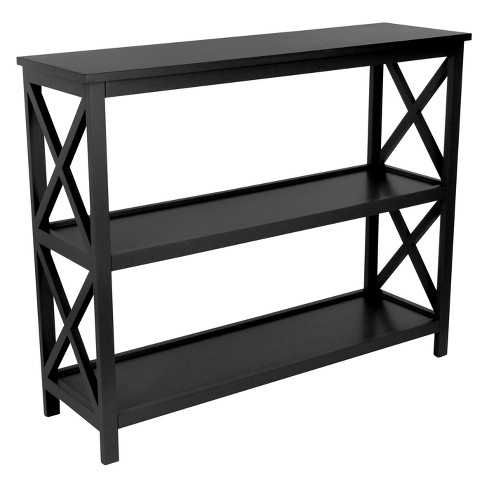Wood 2 Shelf Console Table Green - Olivia & May - image 1 of 4