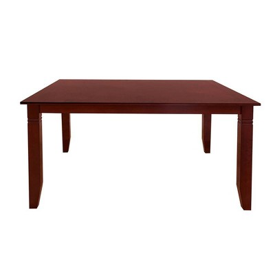 5pc Sonata Dining Set Wood/Cherry Chocolate Microfiber - Acme Furniture