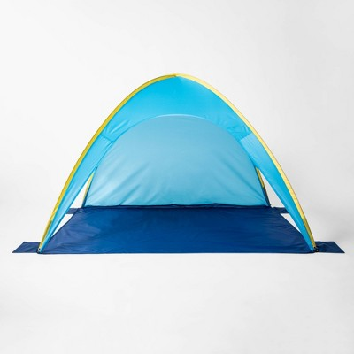 Pop up Beach Shelter Blue/Yellow - Sun Squad™