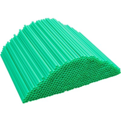 500-Pack Eco-Friendly PLA Disposable Drinking Straws, Plant Based, Compostable & Biodegradable, Alternative to Plastic Straws, Green 8.3""