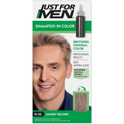 Just For Men Shampoo-In Color Gray Hair Coloring for Men - Sandy Blond - H-10