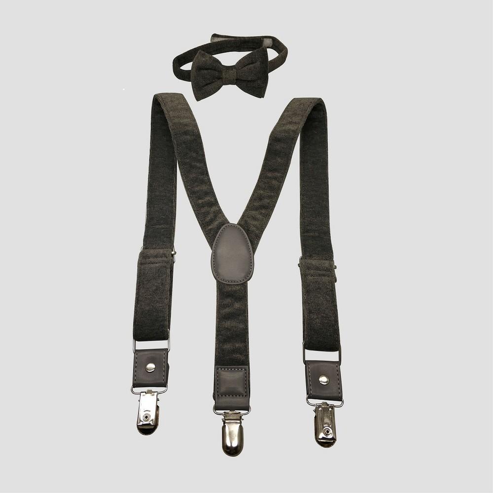 Toddler Boys' Bowtie & Suspender Set - Genuine Kids from OshKosh Gray