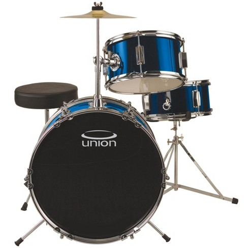 Union Uj3 3pc Junior Drum Set With Hardware Cymbal Target