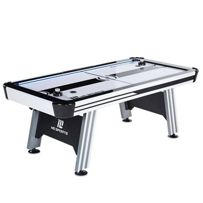"MD Sports 84"" Air Hockey Table with Electronic Score & LED Lights"