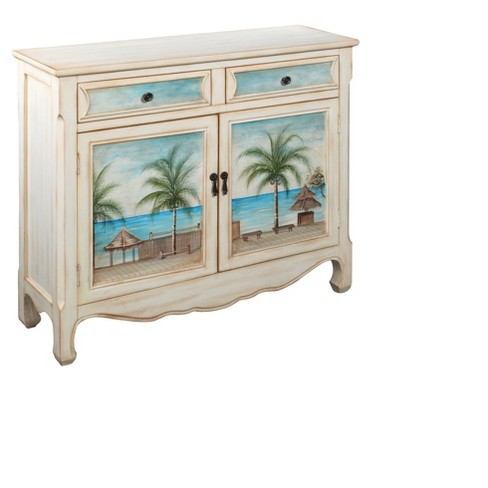 Storage Cabinet Coastal- White - Christopher Knight Home - image 1 of 5
