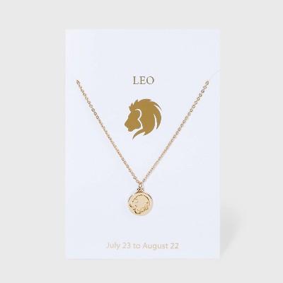 Zodiac Charm Necklace - Gold