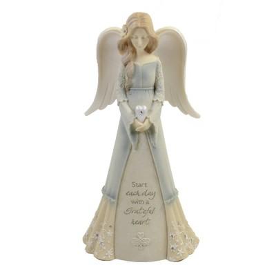 "Foundations 7.75"" Angel Of Gratitude Grateful Heart  -  Decorative Figurines"