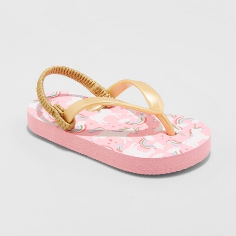 Toddler Girls' Keira Unicorn Flip Flop Sandals - Cat & Jack™ Pink - image 1 of 3