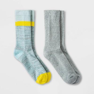 Women's Marled Colorblock Striped 2pk Crew Socks - Universal Thread™ 4-10