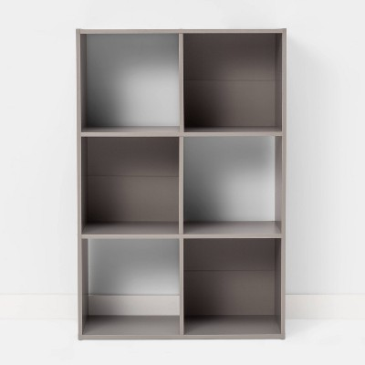6 Cube Bookshelf Gray - Room Essentials™