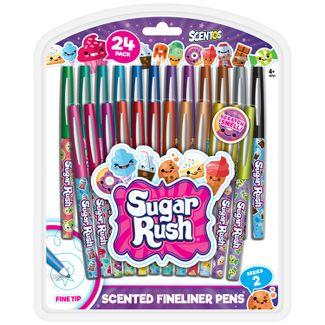 24ct Scented Felt Tip Pens - Sugar Rush