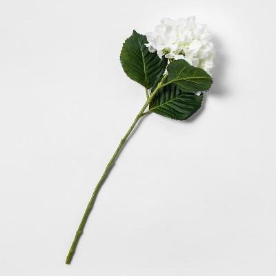 28  Artificial Hydrangea Flower Stem White/Green - Threshold™