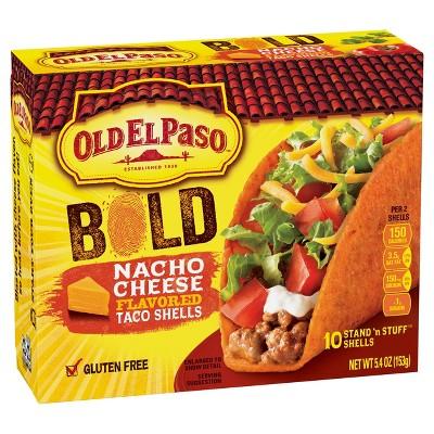 Old El Paso Gluten Free Bold Nacho Cheese Taco Shells - 5.4oz