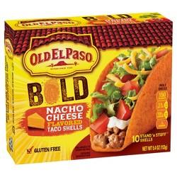 Old El Paso Bold Taco Shells Nacho Cheese 5.4 oz
