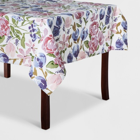 "60""x120"" Floral Tablecloth - Threshold™ - image 1 of 1"