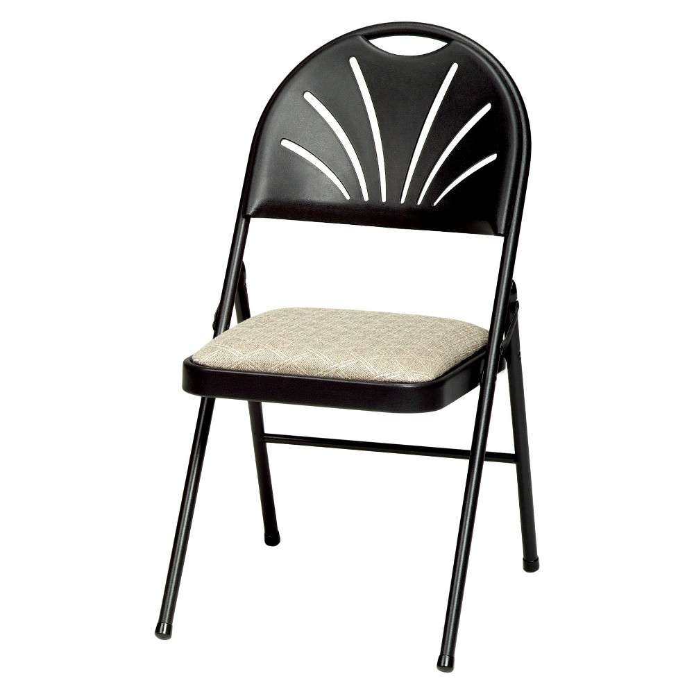 Image of Set of 4 Sudden Comfort Plastic High Back Folding Chair Black Lace - Meca