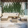 7pc Wicker Rattan Patio Set - Beige - Accent Furniture - image 4 of 4