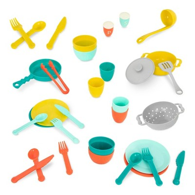 B. toys - Toy Cooking Accessories - Mini Chef Kitchen Set
