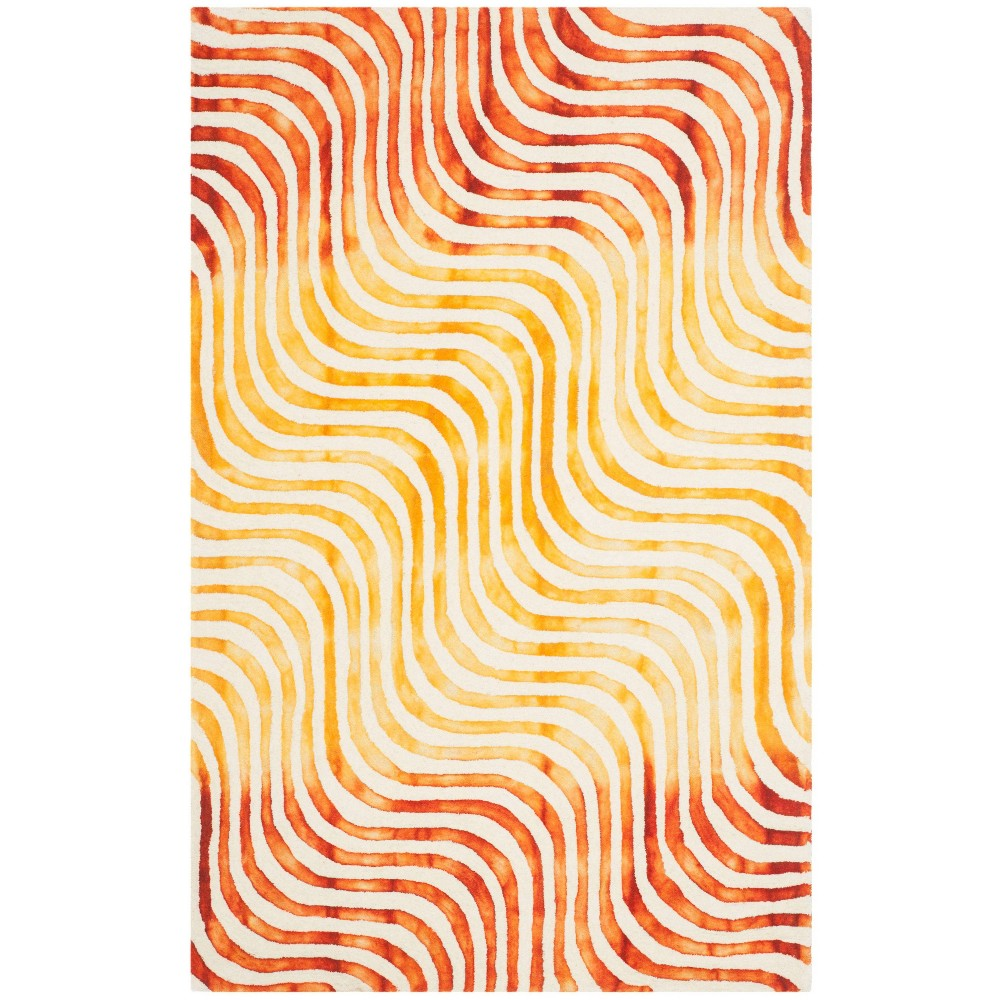 Ivory/Terracotta Abstract Tufted Area Rug - (5'X8') - Safavieh