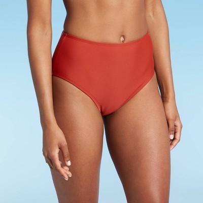 Women's High Waist Medium Coverage Bikini Bottom - Kona Sol™ Light Orange