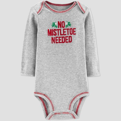 Baby Boys' Mistletoe Bodysuit - Just One You® made by carter's Gray Newborn
