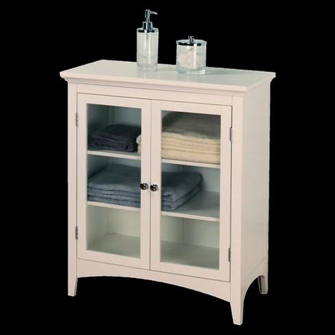 Madison Avenue 2 Door Floor Cabinet White Elegant Home Fashions Target