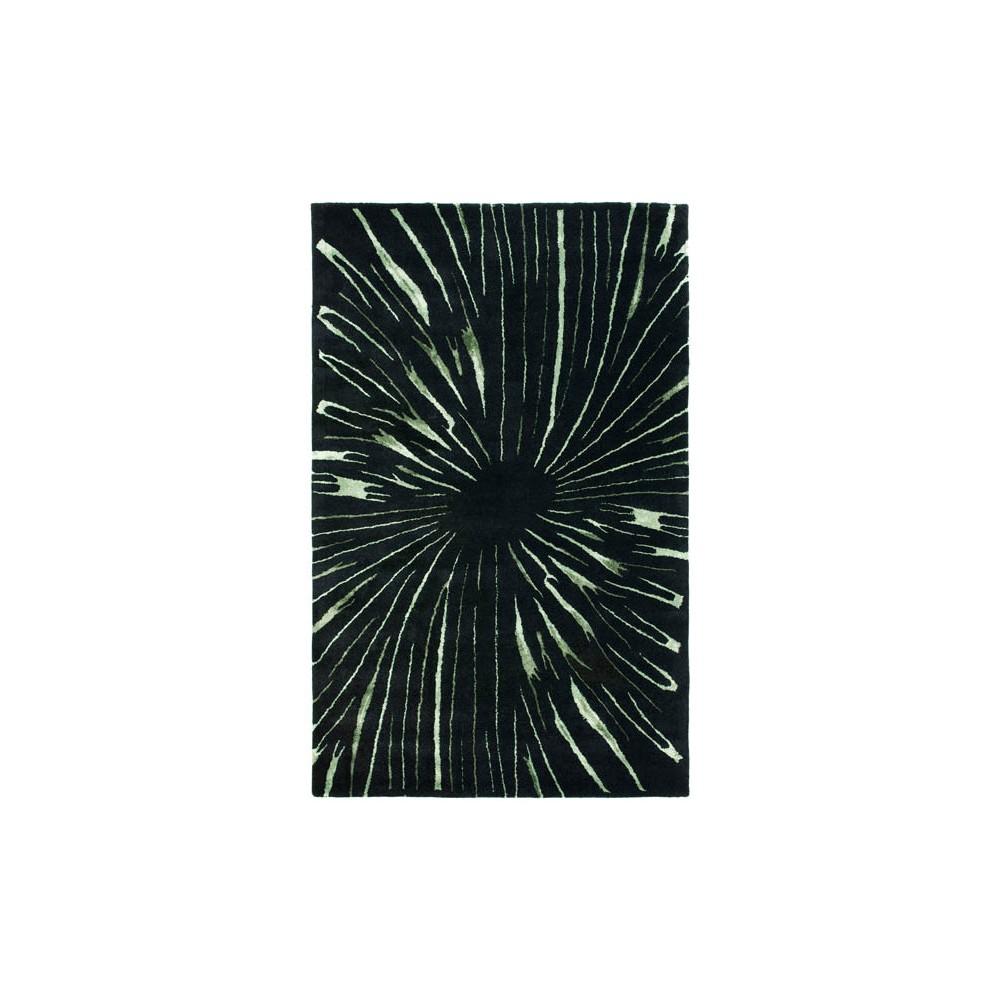 Black/Multicolor Abstract Tufted Area Rug - (5'X8') - Safavieh, Black/Multi