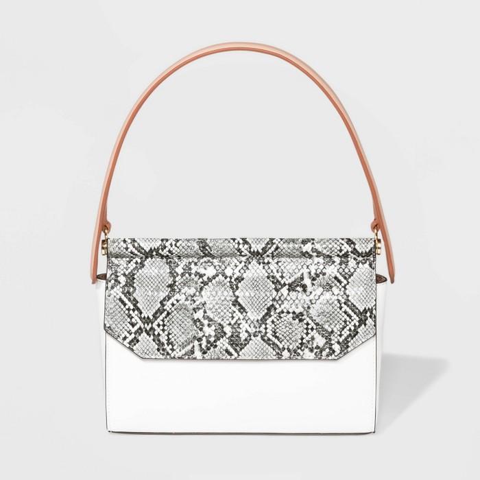 Dowel Satchel Handbag - A New Day™ - image 1 of 2