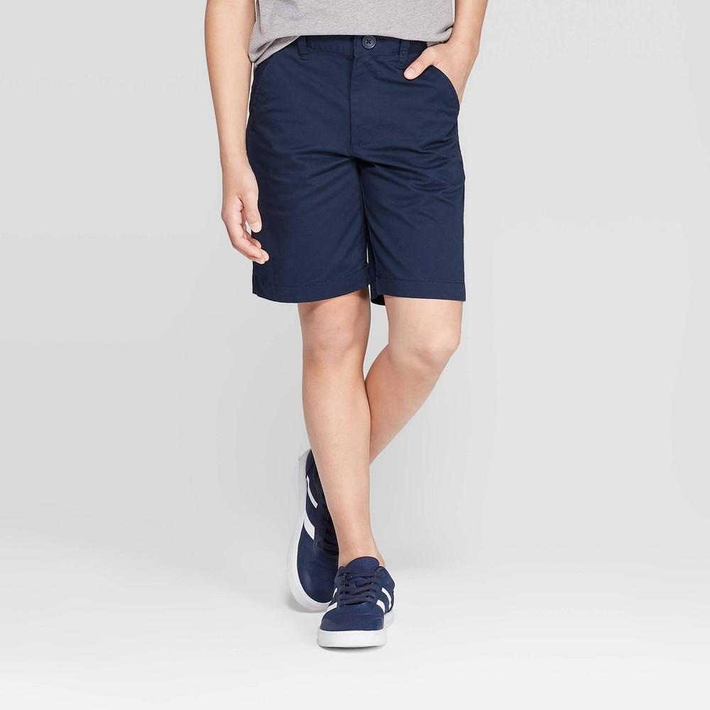 Best Review Boys Flat Front Uniform Chino Shorts Cat Jack Navy Blue 14