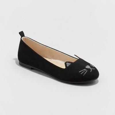 Girls' Indigo Slip-On Ballet Flats - Cat & Jack™ Black