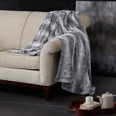 Gray Marselle Faux Fur Throw (60 x70 )