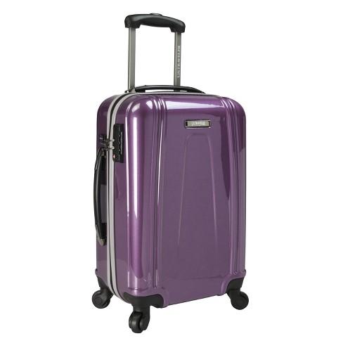 """U.S. Traveler 22"""" USB Port EZ-Charge Suitcase - Purple - image 1 of 3"""